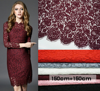 150cm*150cm New Arrival French Eyelash Lace DIY Decorative High Quality Soft African Guipure Cord Lace Trim For Sewing Fabric