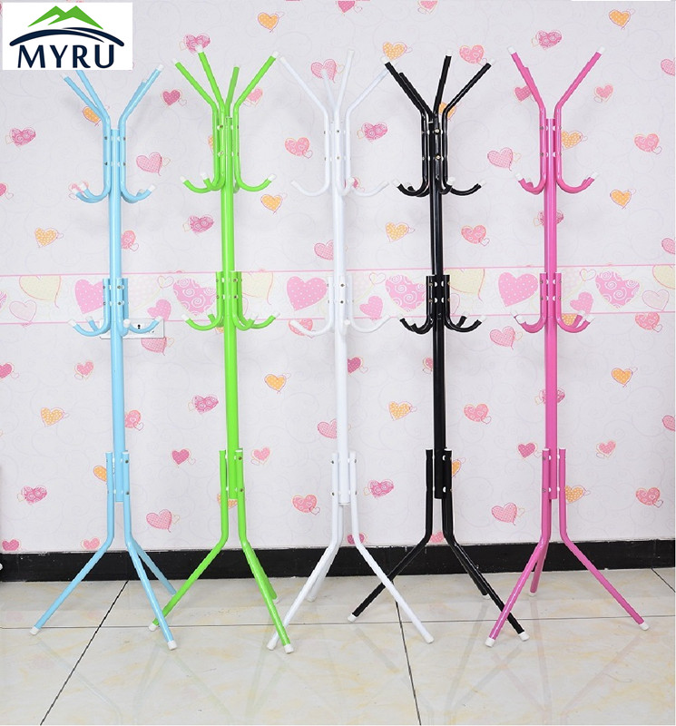The floor coat rack hanger The bedroom clothes rack  Simple fashion iron hanger free shipping тушь для бровей bronx colors eyebrow mascara 03 цвет 03 dark brown variant hex name 674e41
