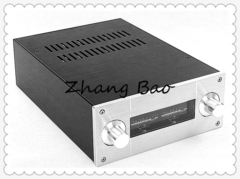 WA53 Amplifier Aluminum Chassis Enclosure Box Case Shell for Audio AMP audio amplifier chassis shell case enclosure box aluminum 430x456x113mm wa43
