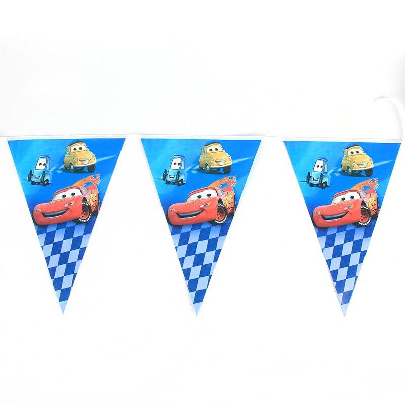 Disney Cartoon Cars 2 5m Flag Kids Birthday Party Supplies Paper