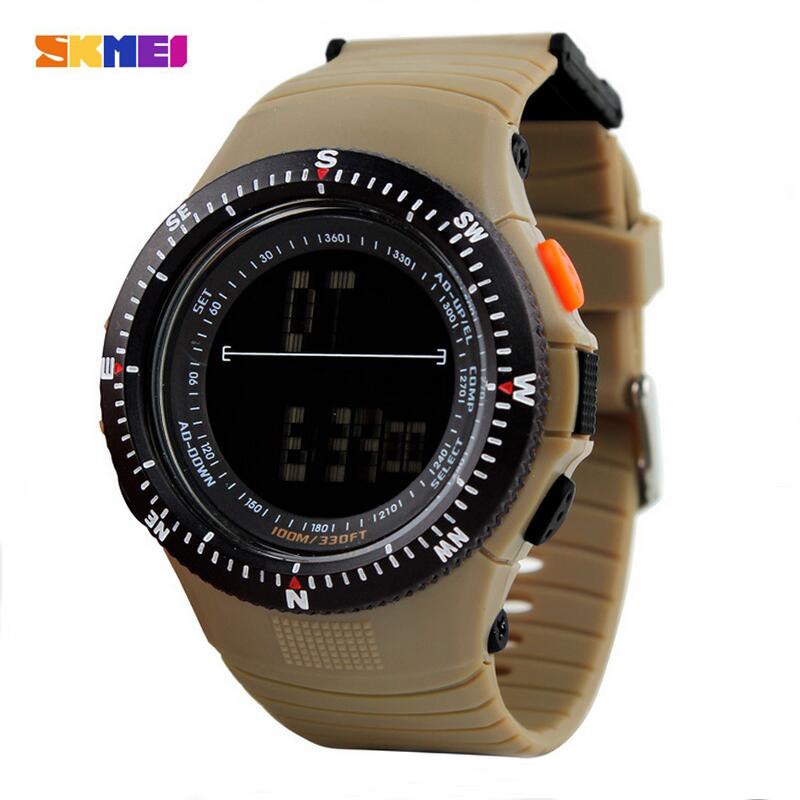 SKMEI Outdoor Military Watch 50m Waterproof Electronics Wristwatches Fashion Casual LED Digital Sports Watches Men 0989 pedometer heart rate monitor calories counter led digital sports watch fitness for men women outdoor military wristwatches