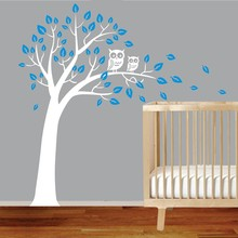 Free shipping owl tree vinyl wall stickers mural art home living room children room wall decals fashion decoration Y-63 цена и фото
