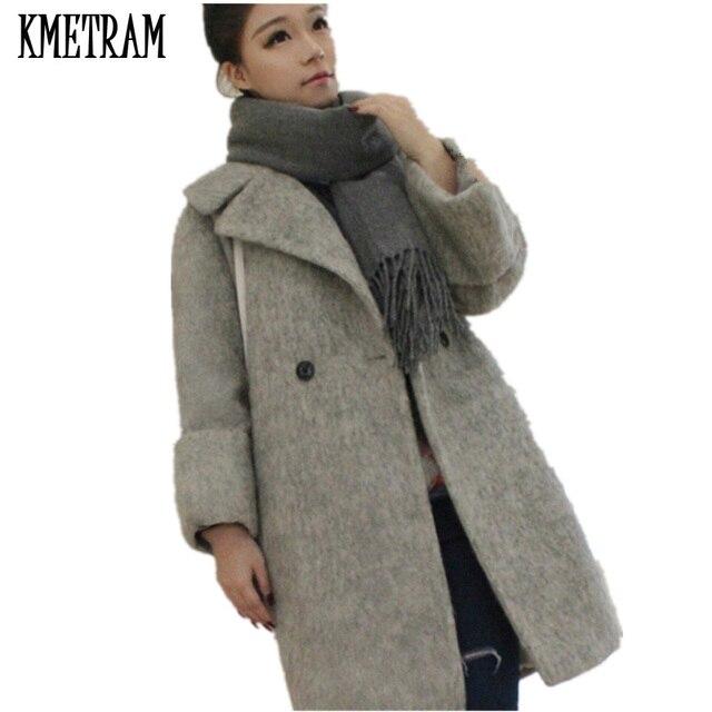 2018 Fashion Teenage Girls Wool Coat Women Cardigan Overcoat Autumn Winter  Women s Coats And Jackets Woolen Coat Female WUJ0676 f453929a06