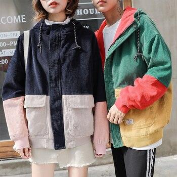 f97b9f16f30 Product Offer. Женские куртки 2017 зимнее корейское пальто на молнии с  капюшоном Вельветовая куртка ...