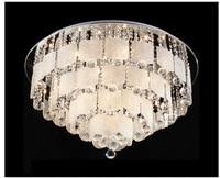 Luxury Europe Modern 80cm Crystal Hanging Round Ceiling Light Free Shipping Living Room Restaurant Hotel Lobby
