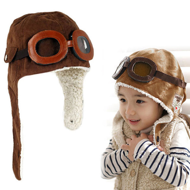5eac916dfb6d Baby Unisex Solid Hats Winter Baby Toddler Boy Girl Kids Pilot Aviator Warm  Cap Hat 2017 New Hot Sale Beanie Brown Black Hats