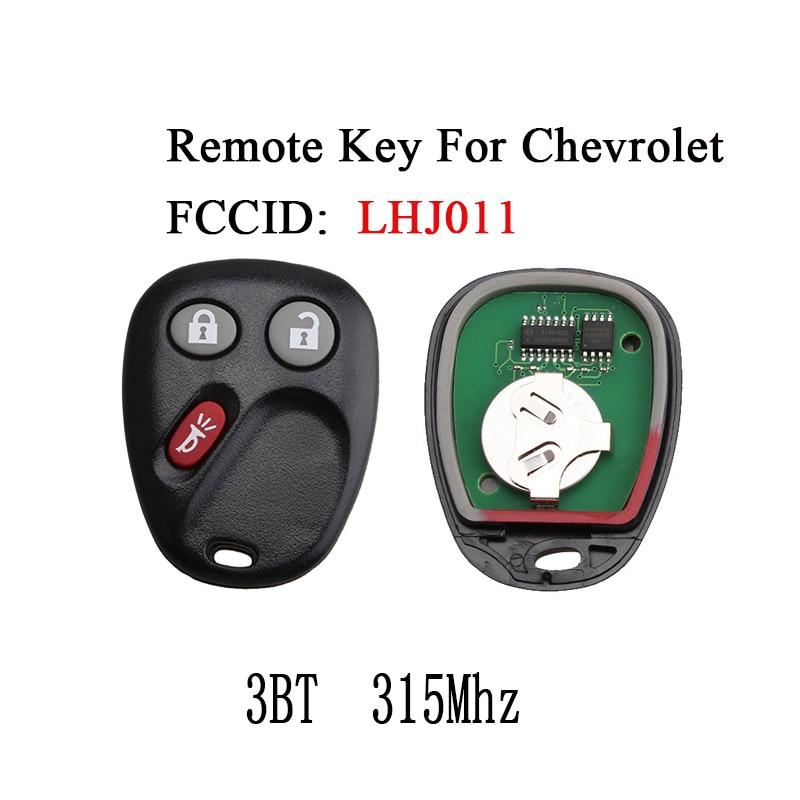 Keyless Entry Fob remoto Chave Para Chevrolet Avalanche Hummer H2 LHJ011 Cadillac Escalade 2003 2004 2005 2006 315 Mhz