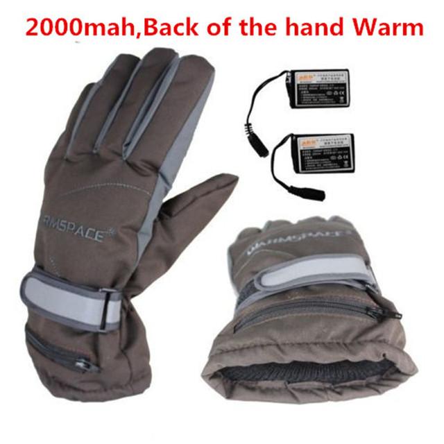 3.7 V/2000 MAH Luvas de Aquecimento Elétrico, Bateria De Lítio Auto Aquecido Luvas de Esqui Do Esporte Ao Ar Livre, Quente 3 horas de Boys & Girls