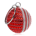 Hot 2016 Round Clutch Bags Red Mini Clutches Silver Black Evening Bag party Purse Shoulder Messenger Bag Chain bolsas feminina