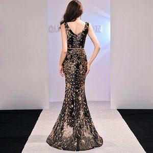 Image 2 - Женское вечернее платье Русалка FADISTEE, Элегантное Длинное платье с блестками, для выпускного вечера