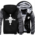 Unisex Anime Thicken Hoodie Coat ONE PIECE Cosplay Jacket Sweatshirts