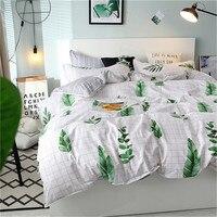 Hot Sale Bedding Set 4pcs Flat Sheet Set Red Heart Bed Linen Set Sheet Pillowcase&duvet Cover Set Cute Bird Child Bedclothes
