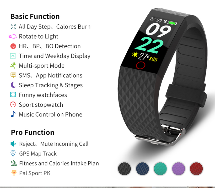 Image 4 - Smart Wristband Fitness Tracker Sport Pedometer Waterproof Heart Rate Blood Pressure Smart Bracelet fashion for man woman Hot-in Smart Wristbands from Consumer Electronics