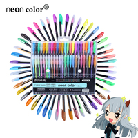 48pcs Gel Pen Set Refills Metallic Pastel Neon Glitter Sketch Drawing Color Pen School Stationery Marker for Kids Gifts