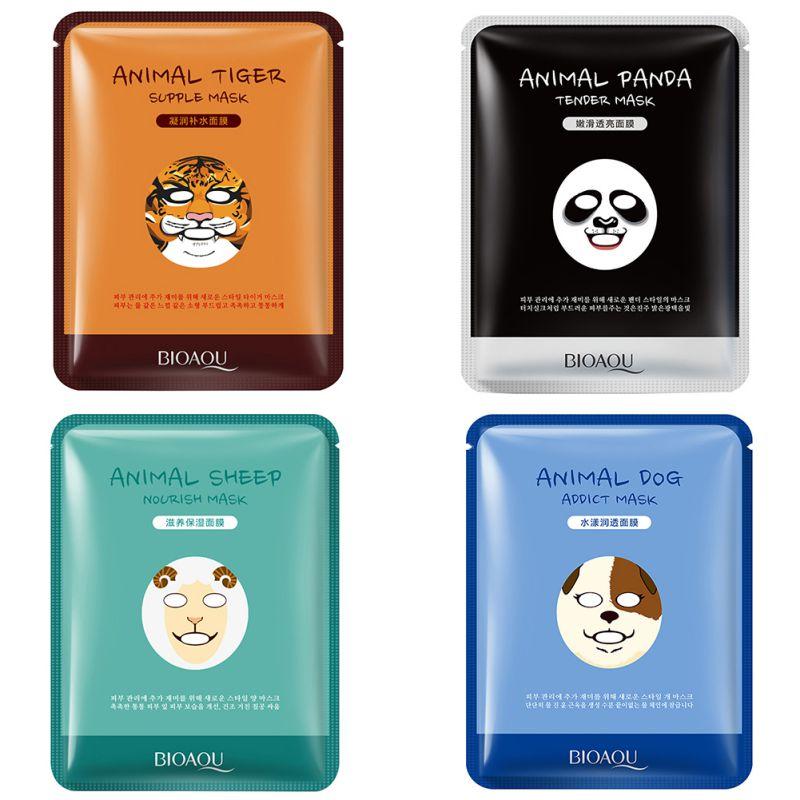 Máscara facial Face Care Coréia Do Sul Padrão Animal Tigre da Máscara de Panda Macio Tratamento & Máscara Hidratante Nutritivo Máscara Facial Coreano