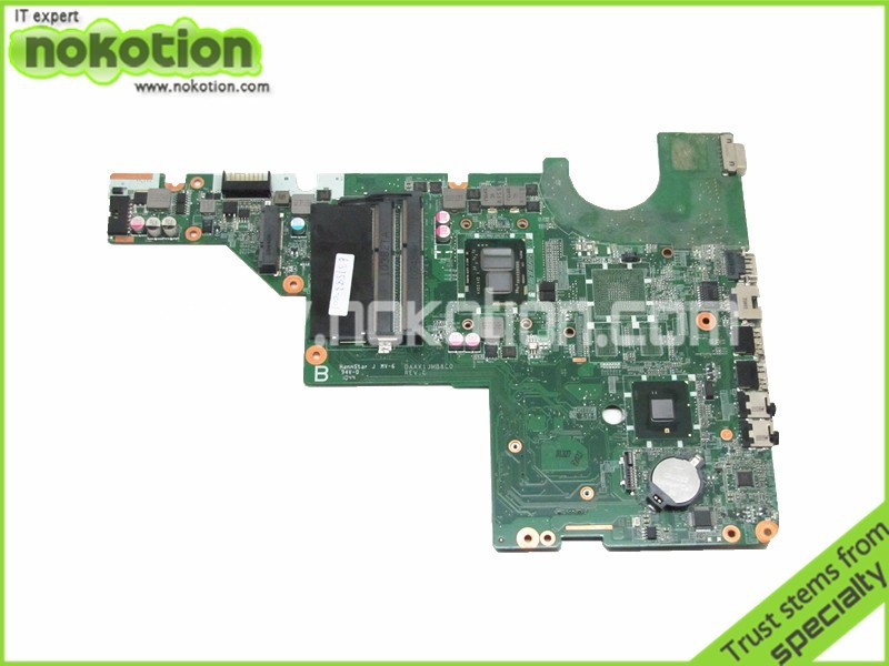NOKOTION 637583-001 Laptop motherboard For Hp Pavilion G62 Intel i3-370m cpu onboard DDR3 DAAX1JMB8C0 nokotion 653087 001 laptop motherboard for hp pavilion g6 1000 series core i3 370m hm55 mainboard full tested