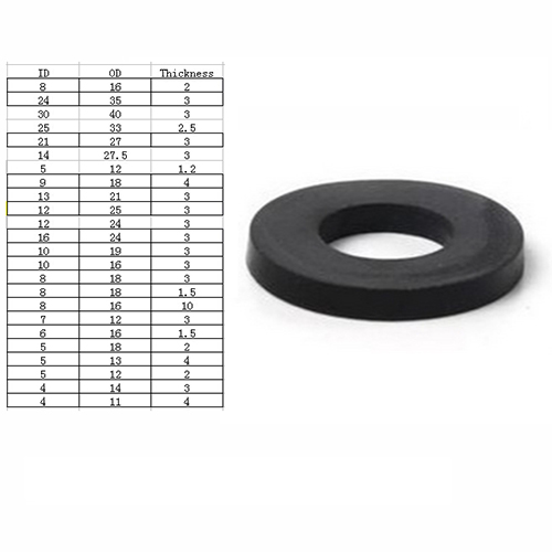 ST3 Flat rubber gasket NBR oil resistance gasket washer flat ring ...