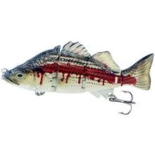 1pcs 11CM 23G 4 Sections Fishing Lure Multi Jointed Hard Perfectly Replicates a Real Fish Crambait Swimbait Fake Bait