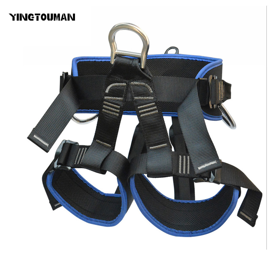 YINGTOUMAN Mountain Seat Belt Outdoor Rock safety Climbing Harness Rappelling Equipment Seat Belt 25kn professional carabiner d shape safety master lock outdoor rock climbing buckle equipment
