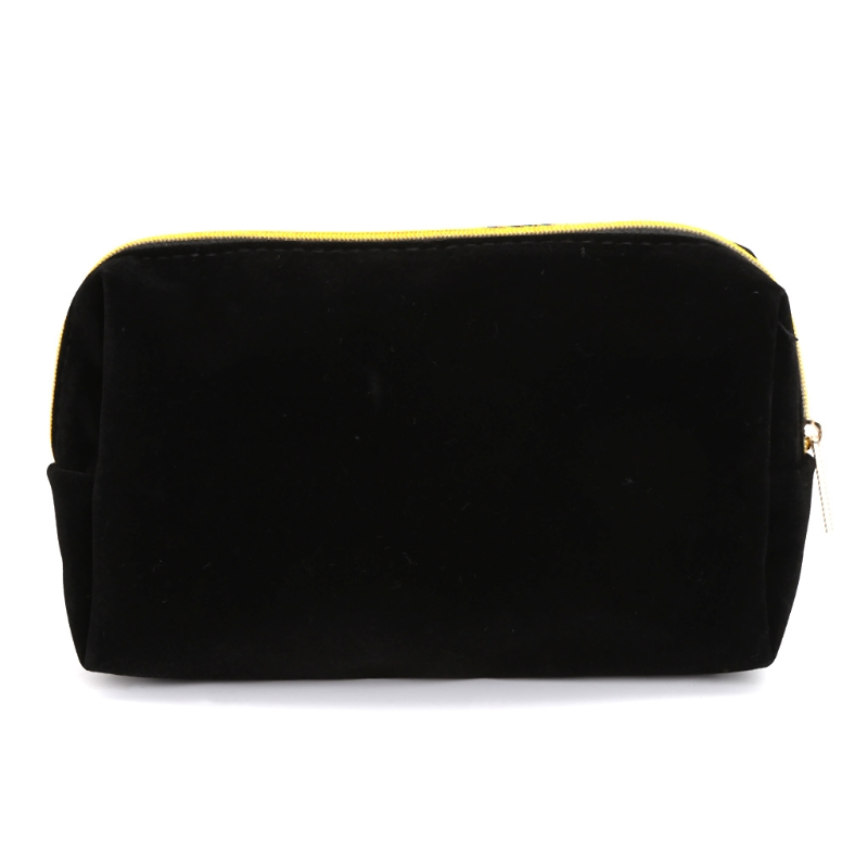 Women Travel Makeup Cosmetic Bag Toiletry Case Flannel Multifunction Purse Pouch Portable Bags New Fashion Black Handbags