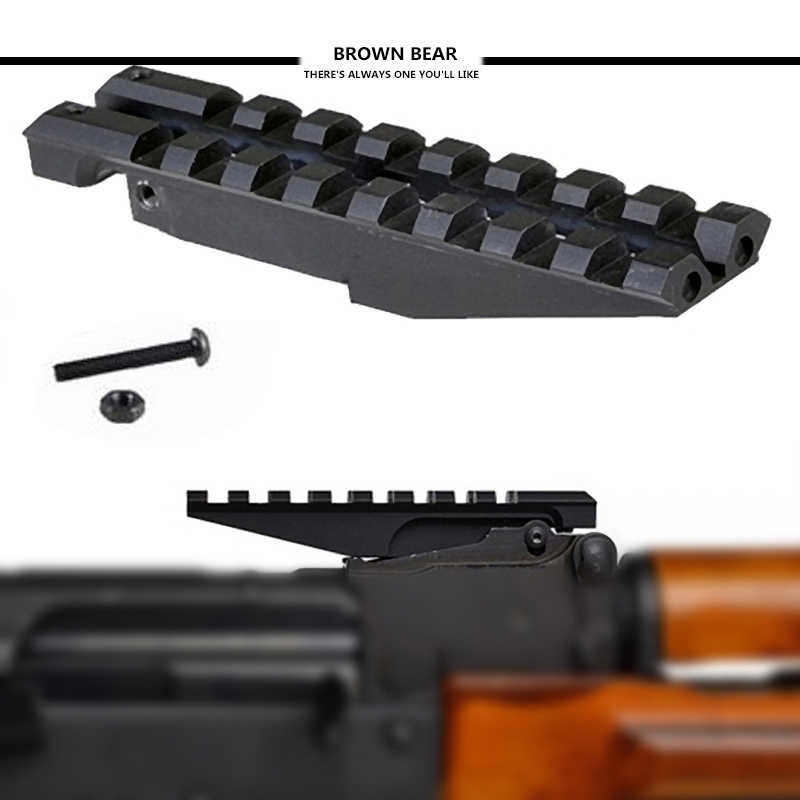 Tactical AK-47/74 Rear Sight Picatinny Rail mount for Airsoft Toy AK Series  AEG / GBBR 20mm Weaver