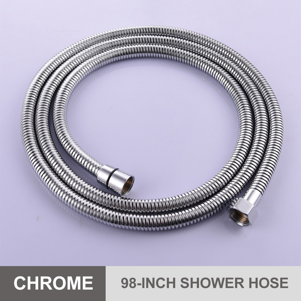 Free shipping SUS304 stainless steel double lock 1.5 2 2.5 3m shower hose with brass fitting for handheld shower and shower head