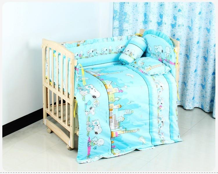 Voorzichtig Promotie! 6 Stks 100% Katoen Baby Beddengoed Sets, Babybedje Beddengoed Sets, Bedlinnen, Tornen (3 Bumpers + Matress + Kussen + Dekbedovertrek) Bestellingen Zijn Welkom.