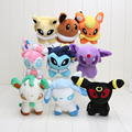 12-14cm Pikachu Sylveon Umbreon Eevee Espeon Jolteon Vaporeon Flareon Glaceon Leafeon plush stuffed toy