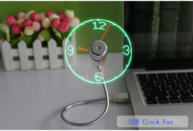 MINI Flexible LED USB Clock Fan Watch 9
