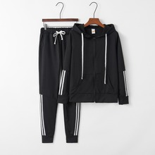 Fashion Spring Autumn Two Pieces Set Hoodie Top And Pant Women 2019 Striped Tracksuit Leisure 2 Piece Outfits