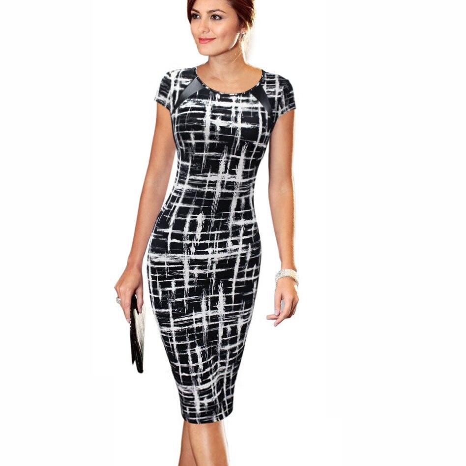 Frauen Kleid 20 Stile Blumendruck Vestidos Arbeit Business Casual ...