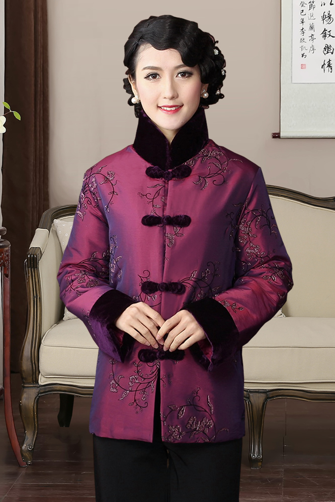 Chinese Traditional Winter Coat Women 39 s Velvet Jacket Size M 3XL in Tops from Novelty amp Special Use