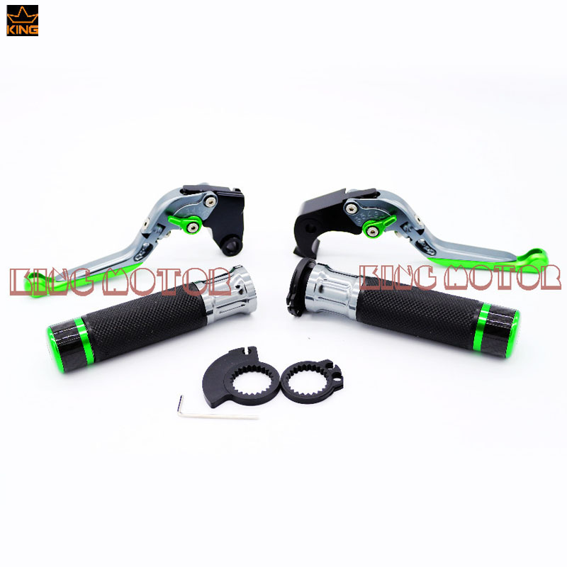 For KAWASAKI Z250 Z300 2013-2014 Motorcycle Accessories Folding Brake Clutch Levers Hand Grips
