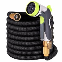 Garden Watering Hose Hot Selling 25FT 75FT Expandable Magic Flexible Water Hose Car Wash Rubber Pipe With Zinc alloy Spray Gun