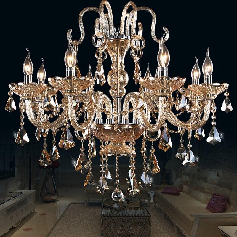 YL Crystal Chandelier Living Room lustres de cristal Decoration Ues E14 Bulbs Pendants and Chandeliers Home Lighting Indoor Lamp