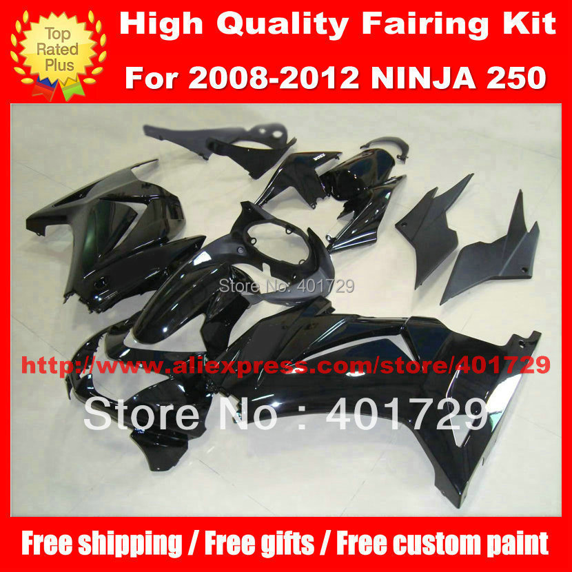 heatshield and windshield motorcycle bodywork for Kawasaki Ninja ZX 250R EX250 2008-2012 pure flat black fairings body kit health care heating jade cushion natural tourmaline mat physical therapy mat heated jade mattress 45 45cm free shipping
