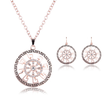 Women Wedding Accessories Jewelry Sets New Fashion Austrian Crystal Gold Color Statement Necklace Earrings Jewelry Sets & More