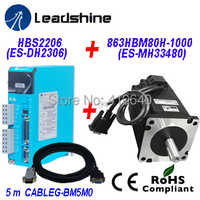 Leadshine AC Servo Drive H2-2206 (Old Model HBS2206) Direct to 220/230 VAC PLUS Easy Servo Motor NEMA 34 863HBM80H-1000 8.0 Nm