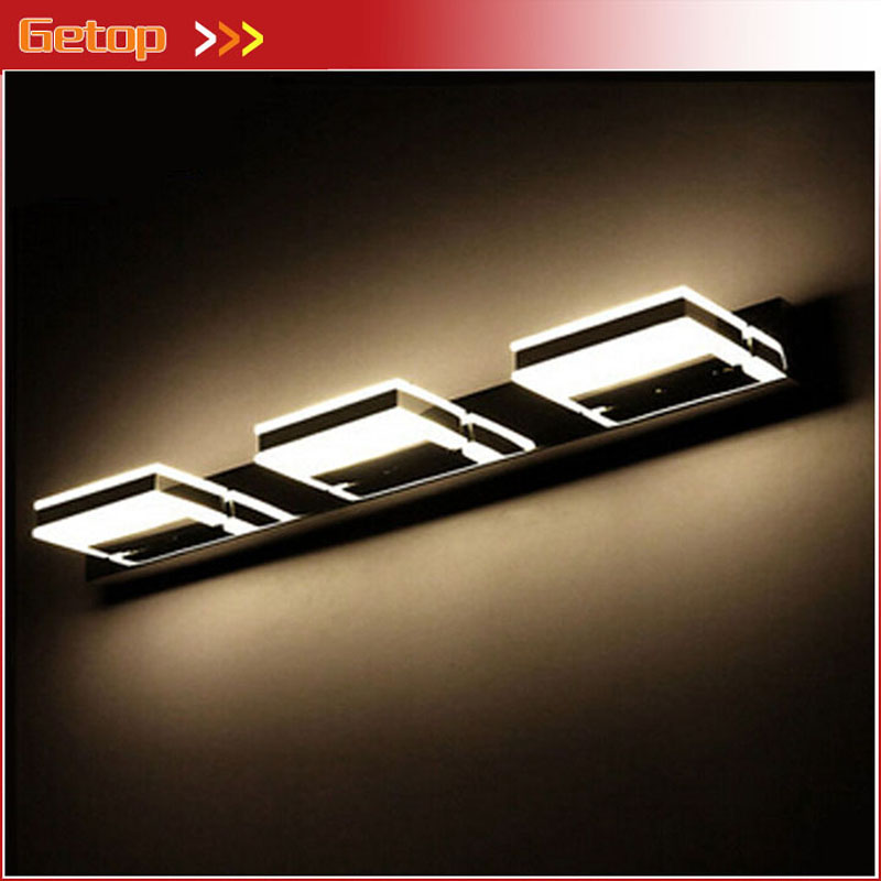 Modern Acryl LED Mirror Wall Lamp Waterproof and Anti-fog Cabinet Mirror Light Bathroom Toilet Dressing Room Make-up Lamp modern creative acryl aluminum led mirror lamp for bathroom living room waterproof anti fog 40cm 12w mirror light 2130