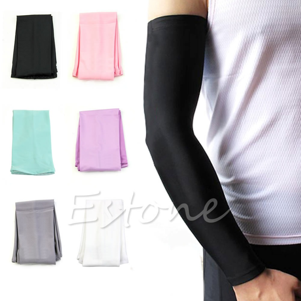 1Pair Sun UV Block Arm Sleeves Cool Warmer Cover Cycling Golf Fishing Climbing -Y107