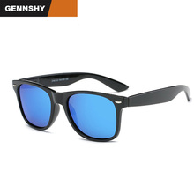 Newest Fashion Square Polarized Sunglasses Men Retro Brand Nails Rays Spring Temples Matt Black Sunglass Green Mirror