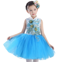 Baby Girl Princess Dress Kids Party Dress Of Girl Toddler Children Chinese Style Embroidery Lace