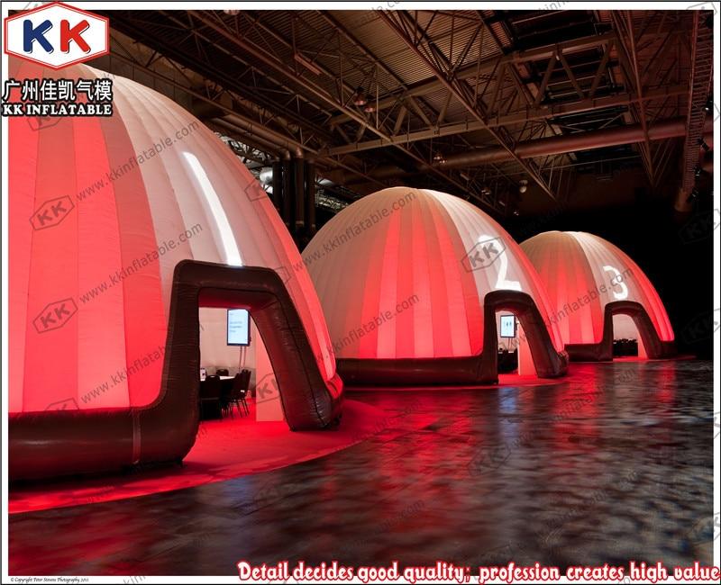 LED надувные office палатка гигант освещения надувной куполообразной палатки