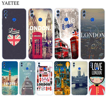 Soft Silicone Phone Back Case For Huawei Honor 9 8 10 lite 7X 6A 6X 6C Pro 8X Play 9i 9N 7S 8C 7A Pro Cover London(China)