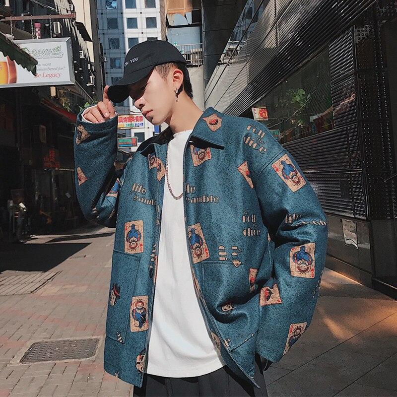 Пиджак мужской Весна и осень 2018 отдел печатных бейсбольных униформ корейской версии тенденция диких свободные красивый