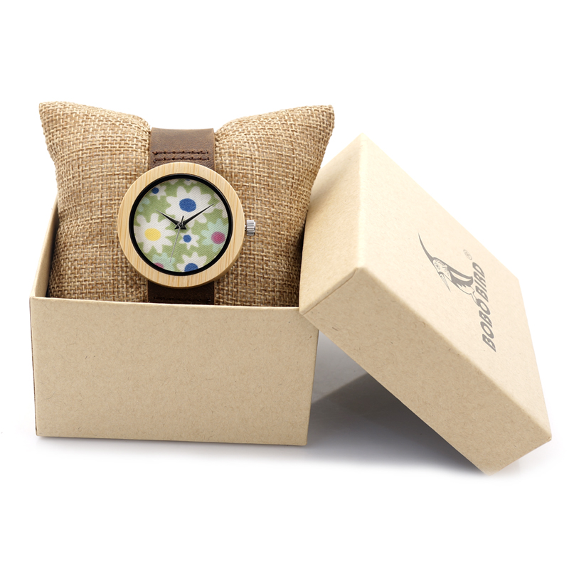 BOBO BIRD 37mm Women Ladies Wrist Watch Brand Bamboo Watch Sepcial Bracelet Quartz Watch Women's Watches Wooden montre femme bobo bird v a10 unique vogue womens bamboo wooden watch quartz outdoor sport watches with genuine leather strap montre femme