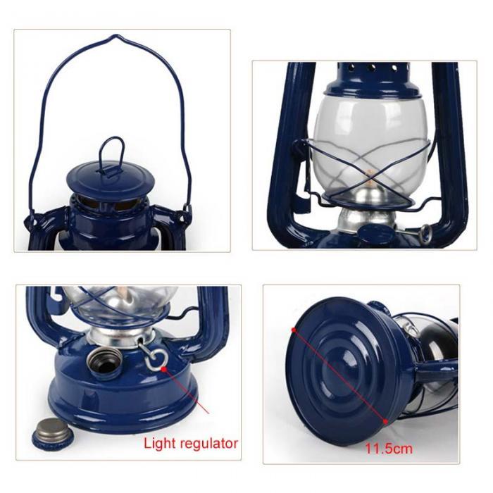 Retro clássico querosene lâmpada 4 cores querosene