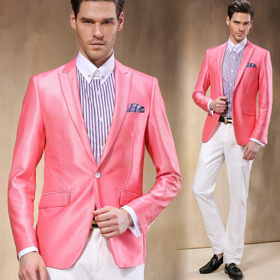 Pink And White Prom Suits | My Dress Tip