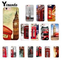 Yinuoda London bus england telephone vintage british TPU Soft Phone Case for iPhone 8 7 6 6S Plus X XS MAX 5 5S SE XR 10 Cases(China)