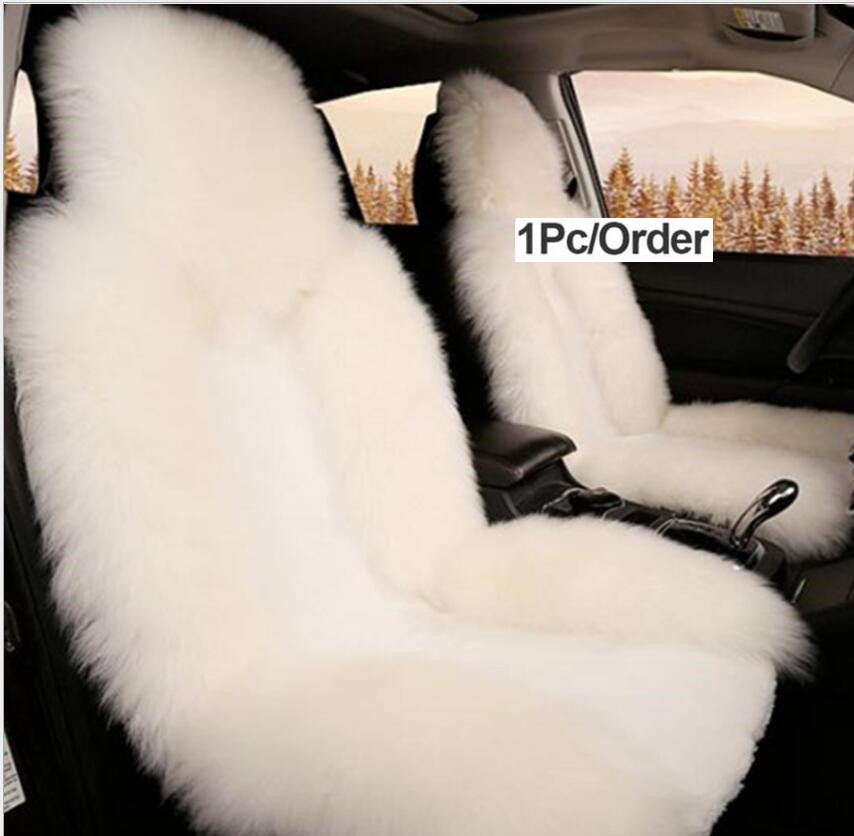 Luxury Universal Car Seat Covers 100% Australian Sheepskin Autumn Winter Warm Fur Seat Cover Auto Interior Accessories
